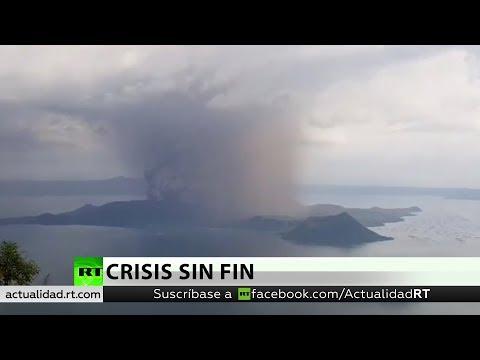 El volcán Taal de Filipinas entra en erupción