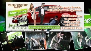 Jinga Juice 2nd Year Anniversary with Vhong and Bamboo
