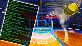 MODDED 1 SECOND RUMBLE ON HOOPS | ROCKET LEAGUE