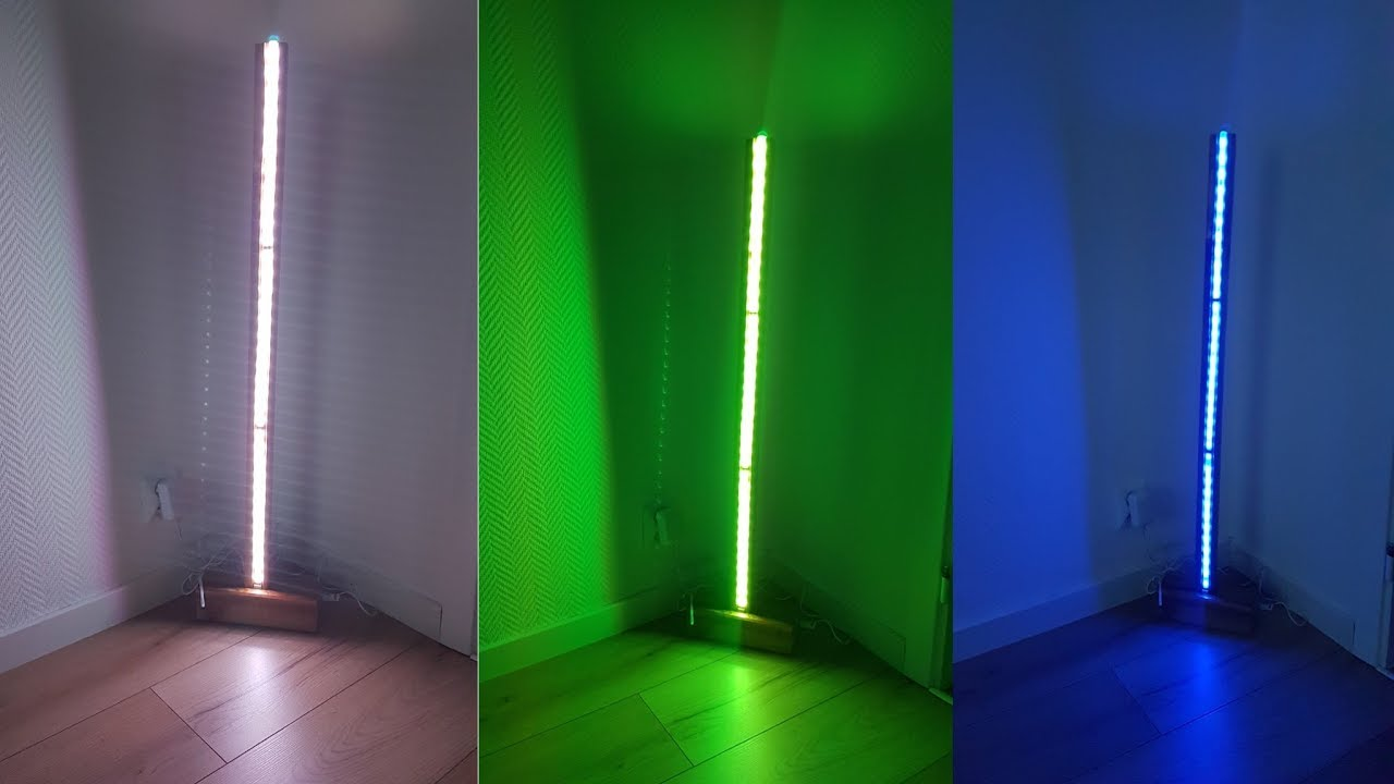 Genius diy modern led floor lamp youtube for Diy led floor lamp