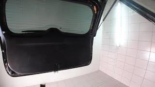 Как разобрать заднюю дверь багажника на Мицубиси Аутлендер 3