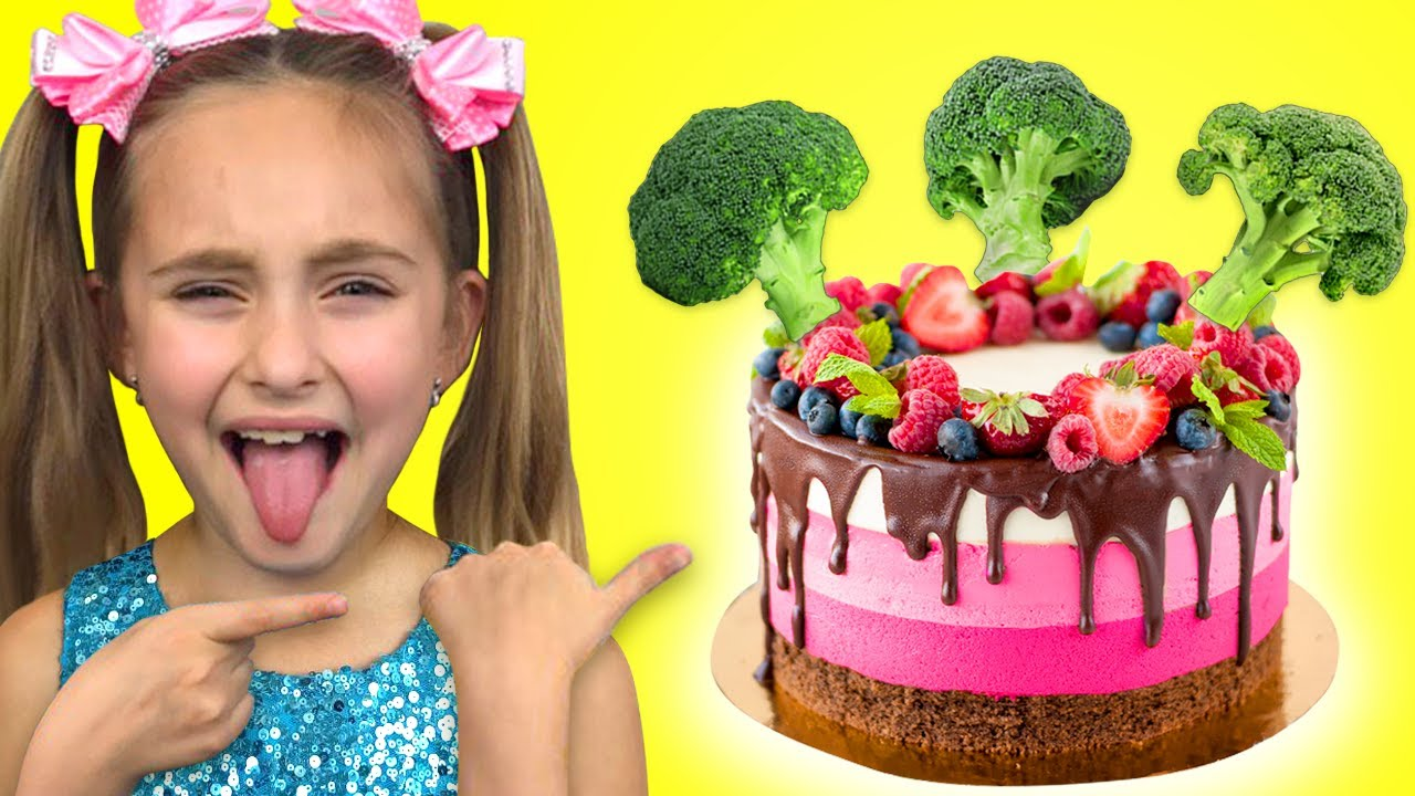 Sasha sing Do you Like Broccoli Cake and Ice Cream Nursery Rhyme Song