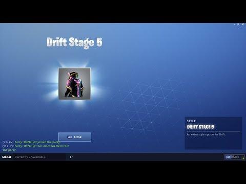 MAX DRIFT! - Unlocking The Max Drift Skin Upgrade In Fortnite: Battle Royale!
