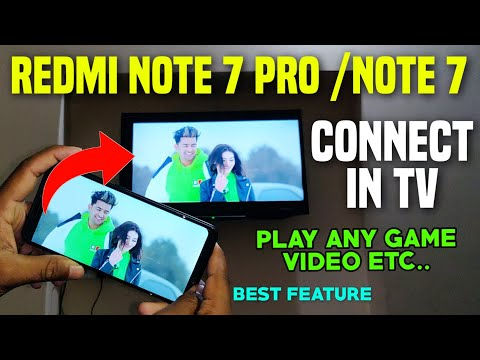 Redmi Note 7 Pro /Note 7/6Pro Mirror Your Screen In TV Play Game/Video/ & More