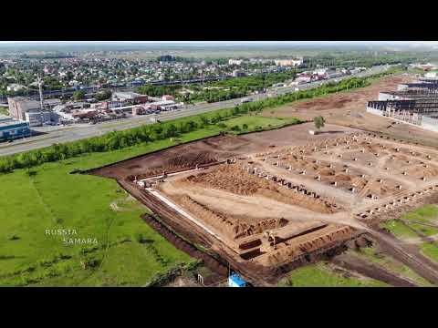 Посёлок Стройкерамика / строительство складов / логистика #Samara #Russia
