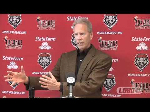 2012 Lobo Football   Coach Bob Davie - Spring Football Press Conference