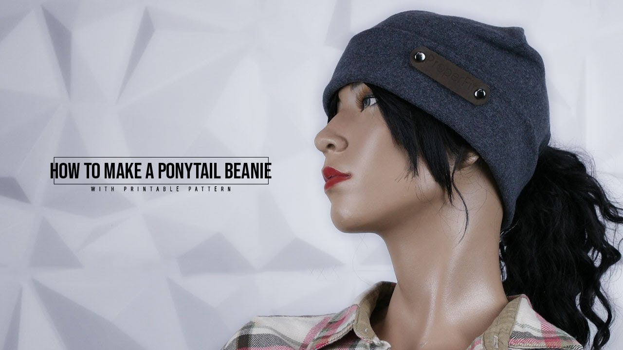 a7f3d8a724a66 How to Make a Ponytail Beanie - YouTube