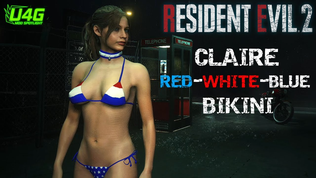 Claire Bikini-Red White Blue Resident Evil 2 Remake MOD by U4G