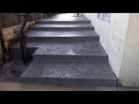 Veterans concrete,...finished stamped concrete pre sealer