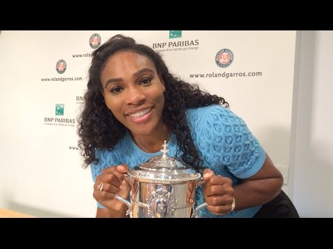 2015 Roland Garros Champion Serena Williams Thanks Fans