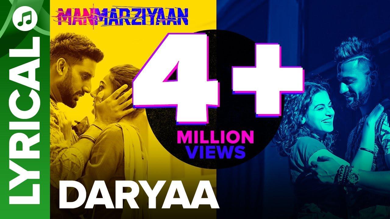 Daryaa | Lyrical Audio Song | Manmarziyaan | Amit Trivedi, Shellee | Abhishek, Taapsee, Vicky