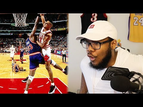 GREATEST NBA POSTERIZER DUNKS! SCOTTIE PIPPEN IS SAVAGE! BODIED CENTER AND WALKED OVER HIM! REACTION