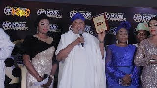 Watch Jide Kosoko Dedicates Awards To Late Wife In Emotional Acceptance Speech