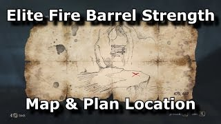 Assassins Creed 4 Black Flag Elite Fire Barrel Strength map and Plan location