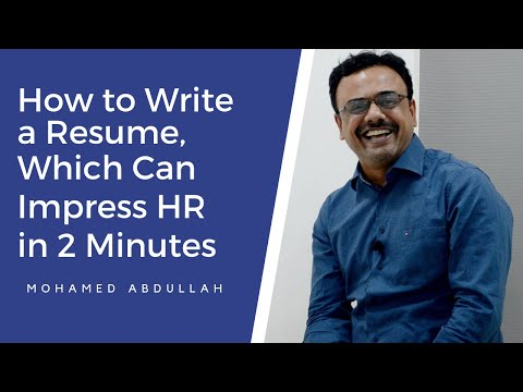 How To Write A Resume, Which Can Impress HR In 2 Minutes