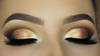 Smokey Golden Cut Crease Tutorial - ABH PRISM PALETTE