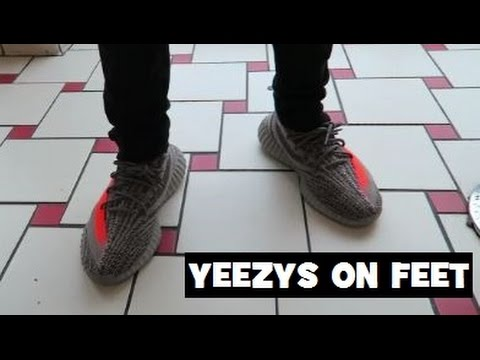 2ce2e0319a30f adidas Yeezy Boost 350 V2 Beluga Grey Sneaker On Feet - YouTube
