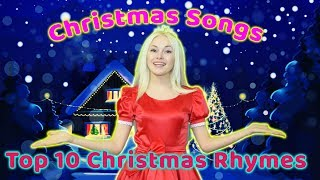 Christmas Songs For Kids   Top 10 Christmas Rhymes Collection For Children   Babies Celebration Song