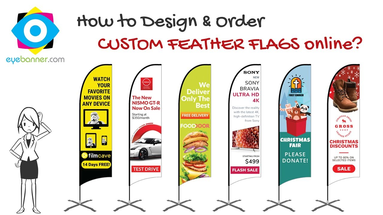 How to Design Feather Flags Custom?