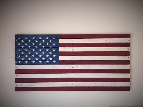 How to make a rustic flag using pallet wood