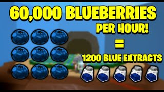 How to get Bluęberries Fast - 60,000 an Hour! - Bee Swarm Simulator