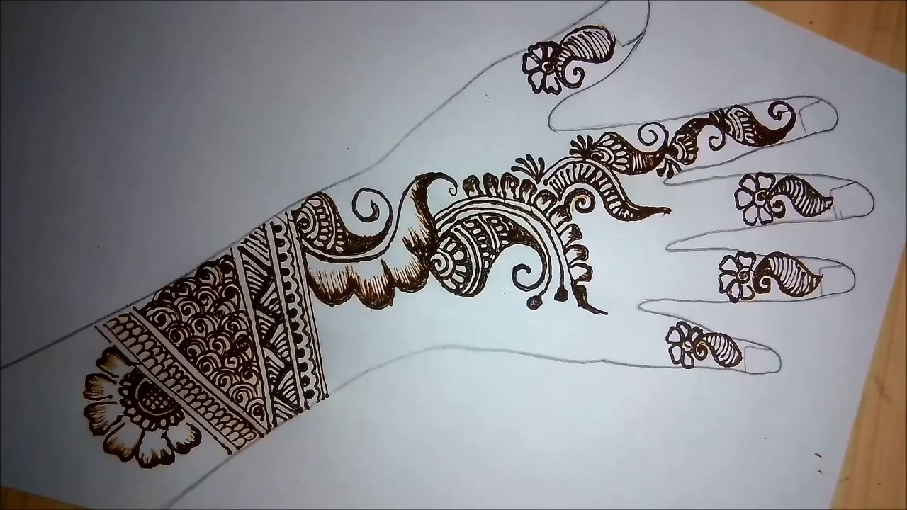 Mehndi Right Hand : Mehndi bail design for right hand backside very easy