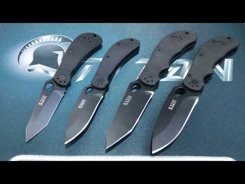 5.11 Bladetech Mike Vellecamp Scout Tanto Folder Tactical Folding Knives Tabletop Review