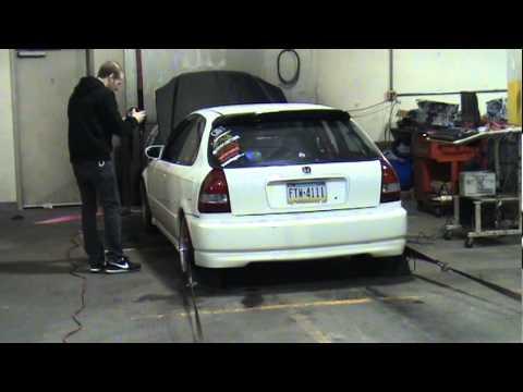 Civic Built D16 5857 Turbo E85 27psi 402whp 286tq Dyno
