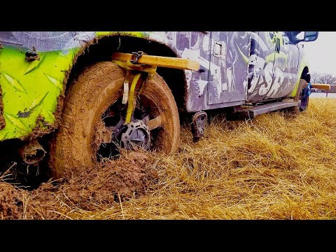 You wont believe this trick to get your truck out of the mud