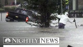 Torrential Rain Slams Parts of East Coast with Historic Flooding | NBC Nightly News