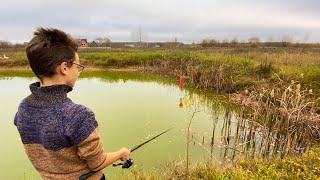 Рыбалка на поплавок осенью ловля на удочку в ноябре на озере