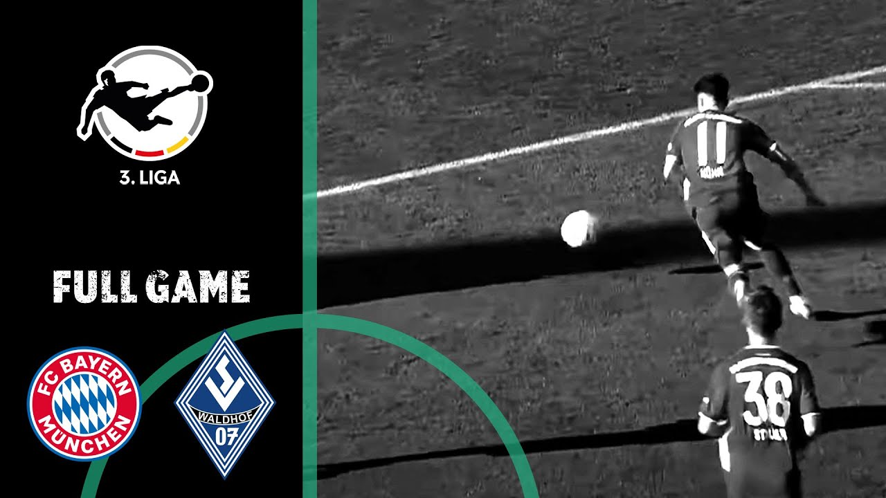 FC Bayern Munich II vs. Waldhof Mannheim 2-0 | Full Game | 3rd Division 2020/21 | Matchday 7