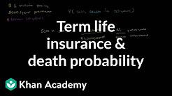 Term life insurance and death probability   Finance & Capital Markets   Khan Academy