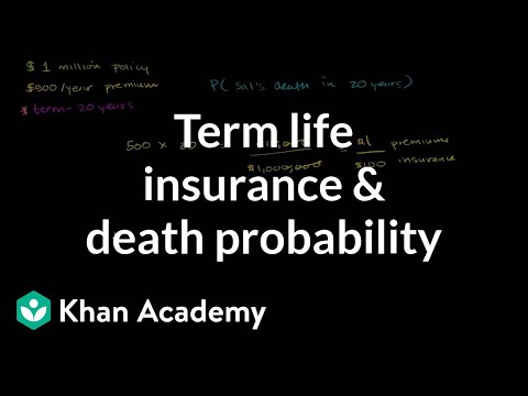 Term life insurance and death probability | Finance & Capital Markets | Khan Academy
