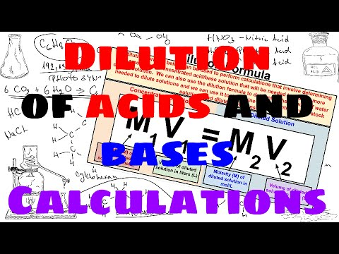 Dilution of Acids and Bases Calculations - Explained