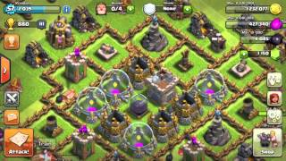 Clash Of Clans - Explanation On Barching (King vs. Golems)