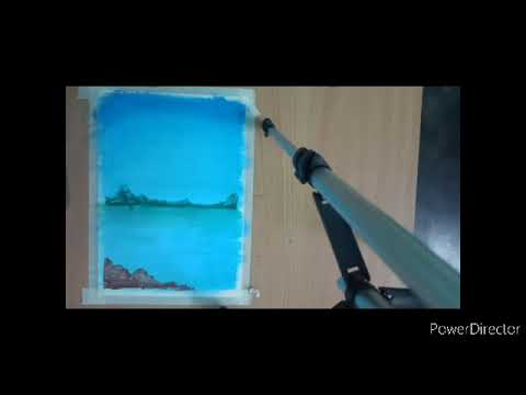 Another Scenery Painting Using Oil Pastels .#OilPastel#Painting
