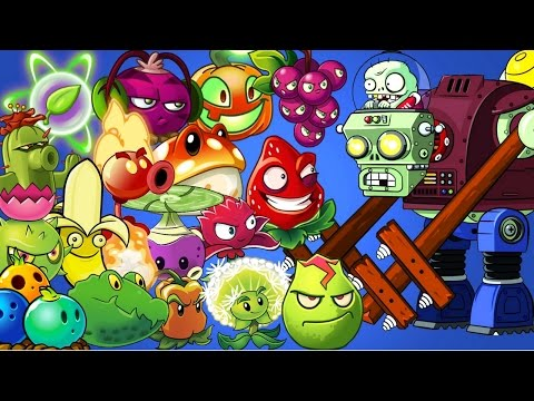 Plants vs Zombies 2 All Plants Power Up vs Gargantuar Prime