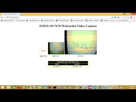 ESP32+OV7670 — WebSocket Video Camera - Mudassar Tamboli - Medium