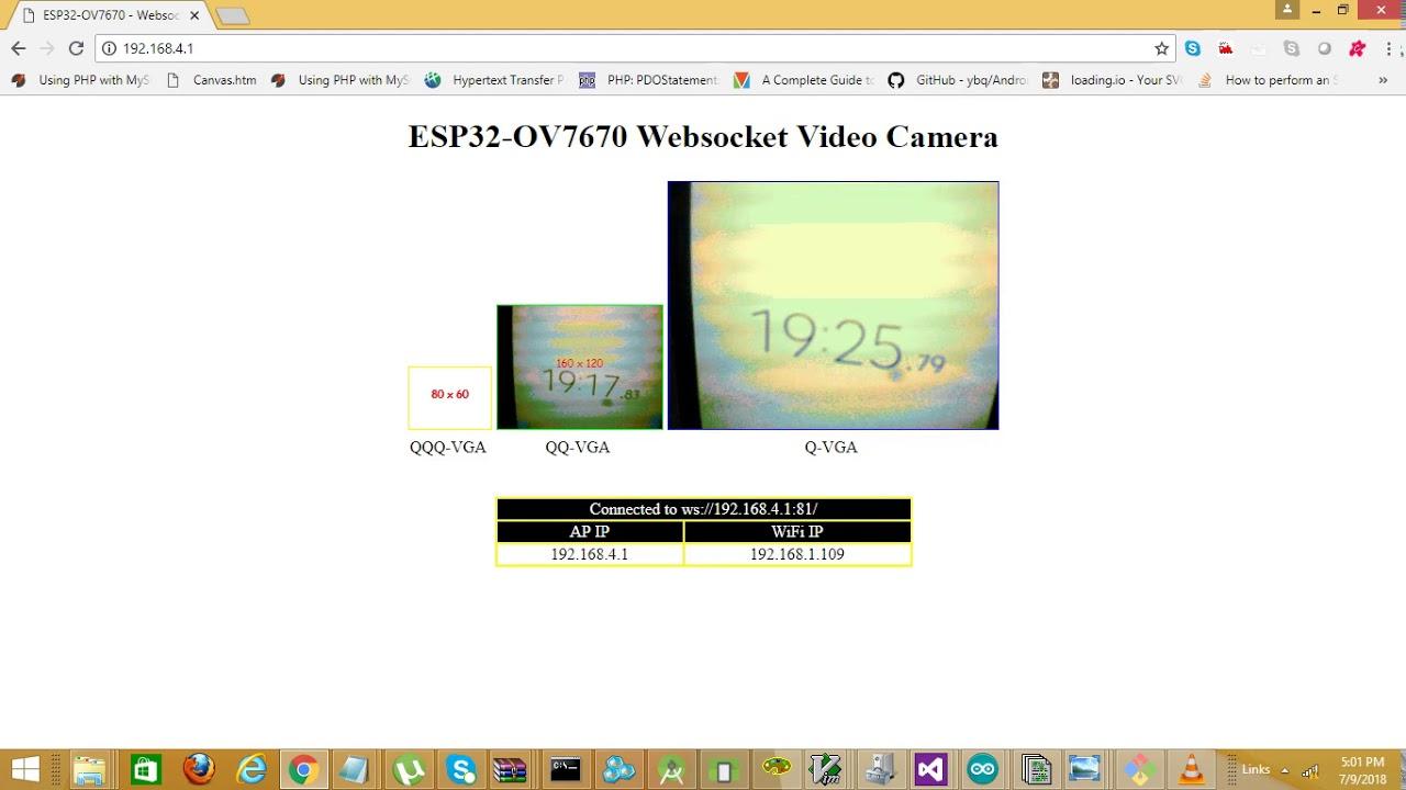 ESP32+OV7670 — WebSocket Video Camera - Mudassar Tamboli