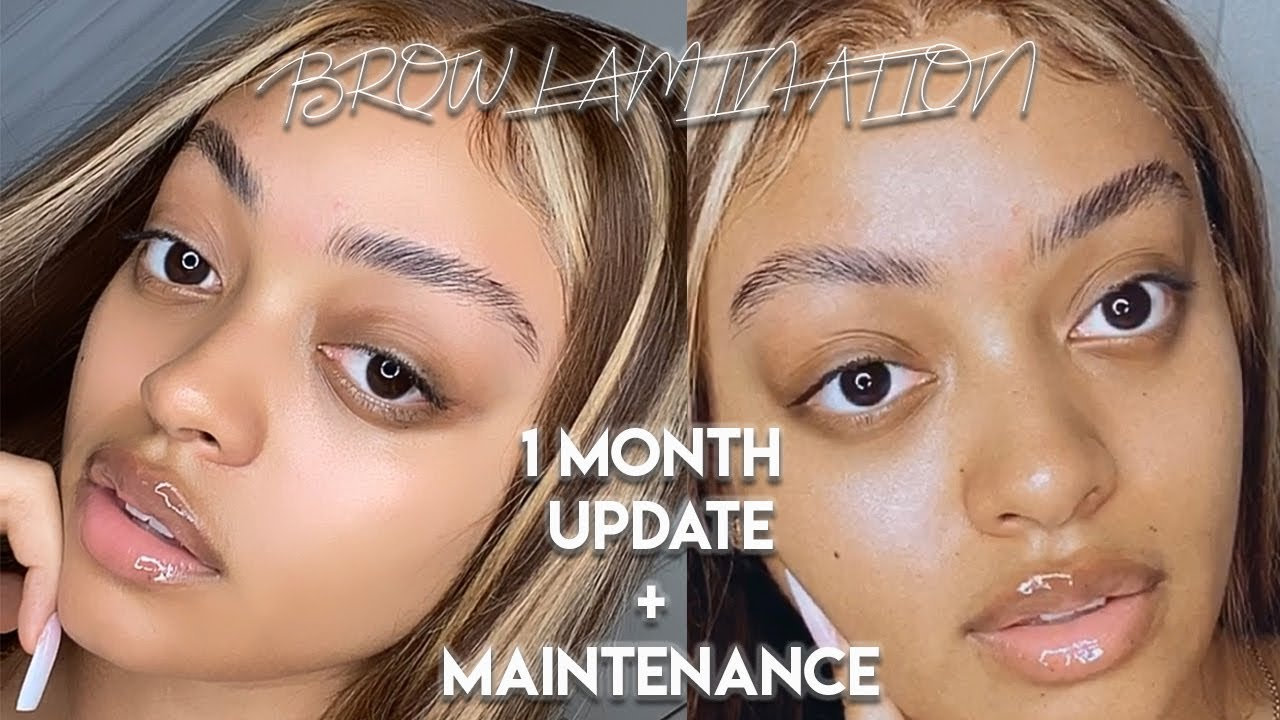 BROW LAMINATION TOUCH UP & 1 MONTH UPDATE | DO'S AND DON'T FOR THE PERFECT BROWS