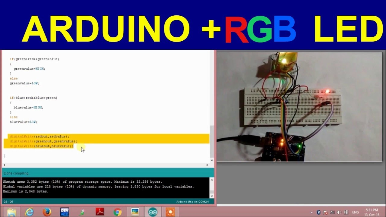 Rgb Colour Sensor Using Arduino Youtube Circuit