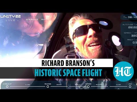 Watch Richard Branson's trip to edge of space in Virgin Galactic's spaceship