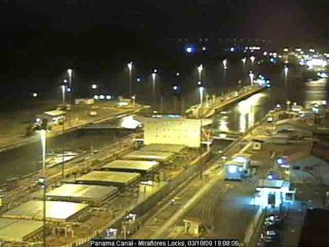 Panama Canal, Miraflores Webcam, 10 March 2009