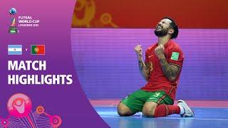 Argentina v Portugal FIFA Futsal World Cup 2021 Match Highlights