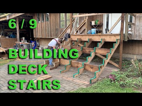Stairs and Porch Repair - Part 6 - Building the stairs.