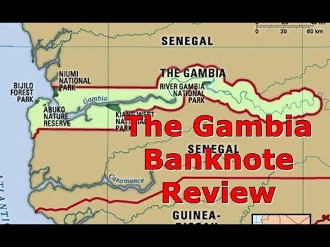 Circulated Gambia 5 Dalasis Banknote