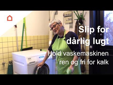 rensning af vaskemaskine der lugter