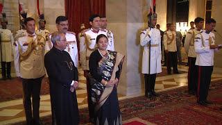 President Bidya Devi Bhandari of Federal Democratic Republic of Nepal called on President Mukherjee