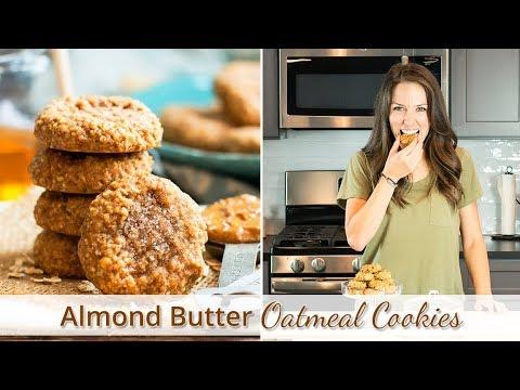 Almond Butter Oatmeal Cookies  | Gluten-Free